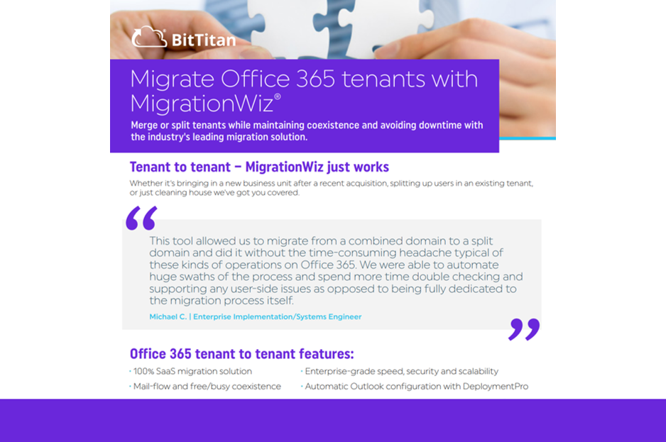 Migrate Office 365 Tenants with MigrationWiz
