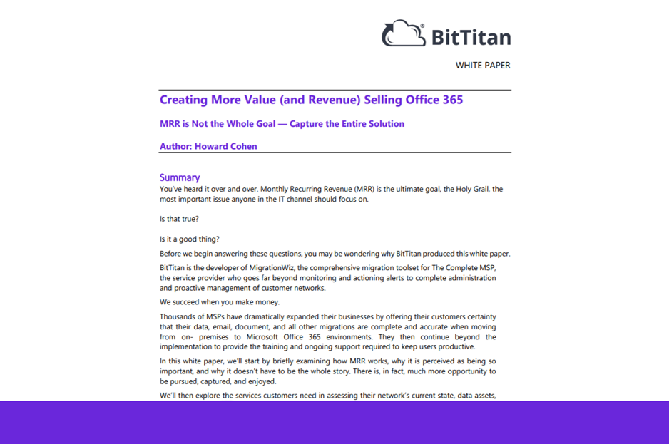 Create More Value (and Revenue) Selling Office 365
